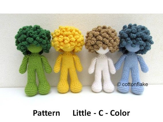 Amigurumi Curly Doll : Pattern little c color doll amigurumi crochet curly