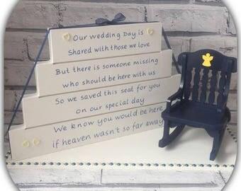 Wedding memorial blocks