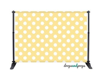 Soft Yellow Polka Dots - Photography Backdrop