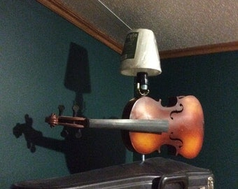Violin lamp with case as base