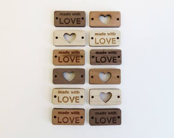 Wood Gift Tags - Pack of 12 - Assorted - Gift Tags