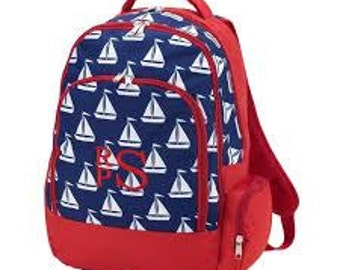Sail Away WB Backpack-FREE Embroidery