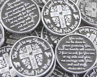 The Lord is My Shepherd Pocket Tokens - SET OF 10