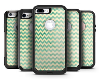 Faded Green Chevron Pattern - OtterBox Case Skin-Kit for the iPhone, Galaxy & More