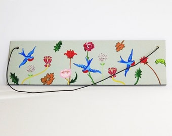 Floral Wooden Painting