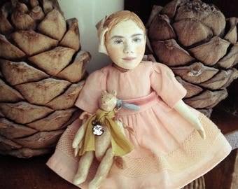 1/12 miniature dollhouse doll with teddy
