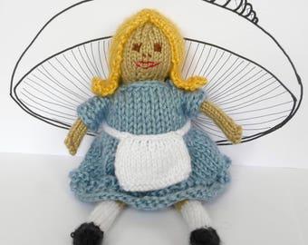 Alice in Wonderland Doll Knitting Pattern