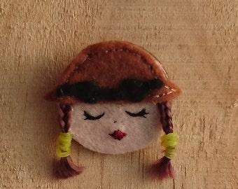 Steampunk Lady Brooches;#steampunk, #victorian, #brooch, #felt, #hat