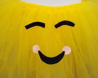 Smiling Emoji Tutu, Smile Emoji Tutu, Emoji Costume, Emoji Cosplay Tutu, Emoji Halloween Tutu, Emoji Photo Prop Tutu, Group Costume, Emoji