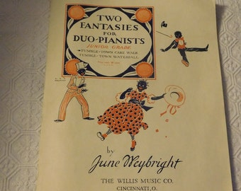 Black American Two Fantasies For Duo- Piano Sheet Music