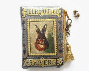 Gifts under 10, Stocking Fillers, Waterproof business card/credit card Wallet, hare/rabbit pouch