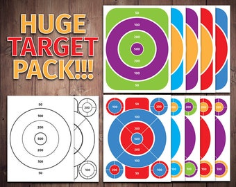 "Printable Party Targets - Ready to Print 8.5"" x 11"" - .JPG Files - Instant Download"
