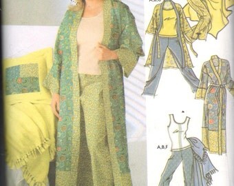 """Simplicity 5361, Sz 18W-32W/Bust 40-54"""". PLUS SIZE Lingerie/Robe, Pajamas, Knit Tank top & pillow cover pattern, OOP Womens sewing pattern"""