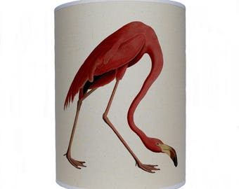 lamp shade/ ceiling light/ pendant light/ pink flamingo shade/ drum lampshade/ lighting/ bird