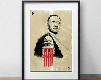 Frank Underwood House of Cards poster Kevin Spacey print