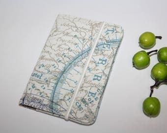 World Map Passport Cover,Fabric Passport Case,Linnen cover,Passport wallet,Mens paspoort  Wereldkaart / ATlas _ Reizen