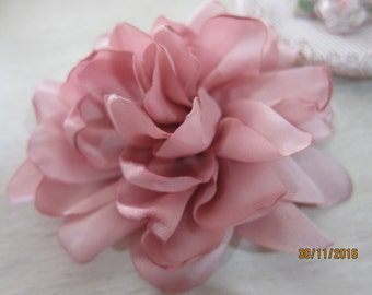1pcs-Satin Flower/NF50-Handmade Satin Flower/Head Pieces/Bridal Head Embellishment/Fabric Flower