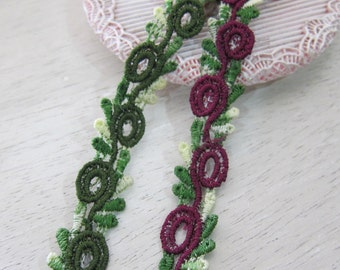 1yard-Embroidered Tiny Trim/NT133-Tiny Loopy Trim/