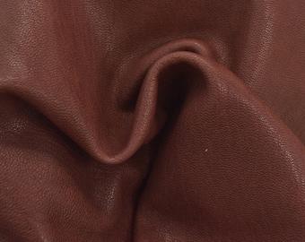 "Pompeii's Red Leather 12"" x 12"" Pre-Cut 2 ounces TA-55269 (Sec. 5,Shelf 3,C)"