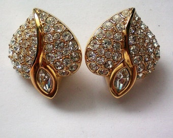 Swarovski Crystal Valentine Heart Clip Earrings - 5198