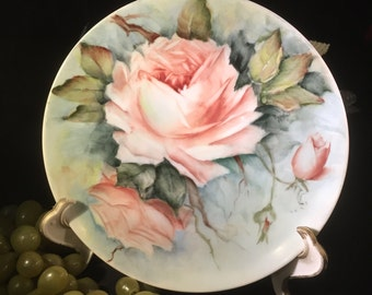 H035  Freda, 1972, signed, hand painted, plate