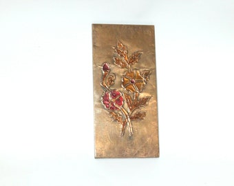 Repoussed Copper Wall Hanging, Living Room Decor, Copper Wall Art, Copper Repousse, Greek Copper Art, Repoussed Copper Art, Embossed Copper