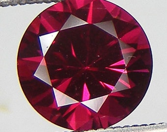 Excellent Cut Loose Ruby Round Cut 7 mm Pigeon Blood Red Ruby Lab Corundum Loose Gemstone