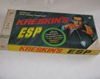 Vintage Kreskin's ESP board game Milton Bradley 1966