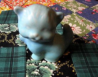 Vintage Van Briggle Turquoise  Pottery  Kitten