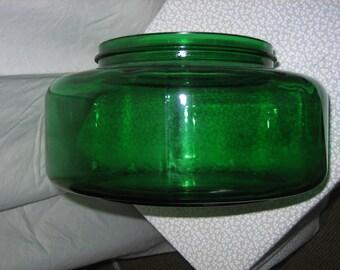 Rare & Unique Emerald Green Glass Bowl Fish Bowl Humidifier Base