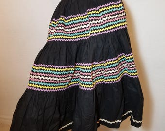 FREE  SHIPPING   1950  Cotton  Full  Circle  Skirt