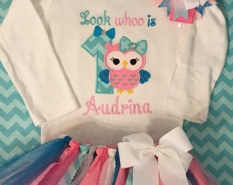 Look Whoo is Owl Birthday Tutu Outfit