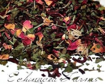 SWEET LEMON ROSE Herbal Tea Bath * 4 oz. * Floral Facial Steam * Herbal Face Steam * Herbs * Skin Care * Facial Steam* Floral Bath Soak