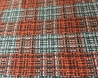 1.47 yds. / Wool Blend Plaid
