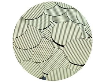 Sequin Round 1.5 inch Gold Black Pinstripe Metallic Couture Paillettes