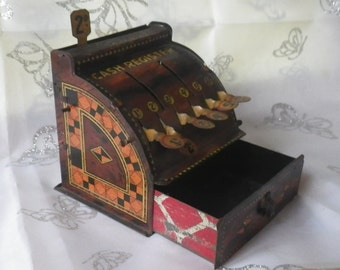 Vintage Tin Toy Cash Register