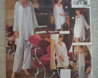 Vogue Pattern Make Plus Size Loose Fitting Evening Jacket Dress Top Pants Stole Tom & Linda Platt Designer 18/20/22