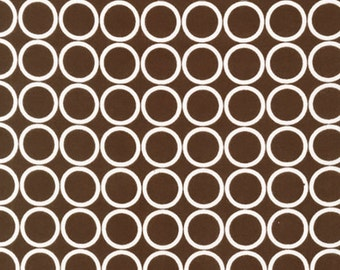 Sale Robert Kaufman, Metro Living, Chocolate Brown, 1 Yard, Rings