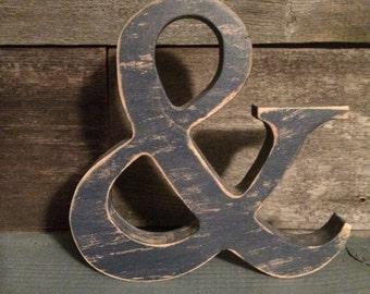 """8"""" wooden Ampersand / &"""