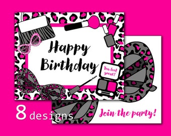 Diva Party Door Sign, Printable Welcome Sign, Diva Birthday Sign, Girls Party Signs, Makeover Party, Sleepover Party, INSTANT DOWNLOAD