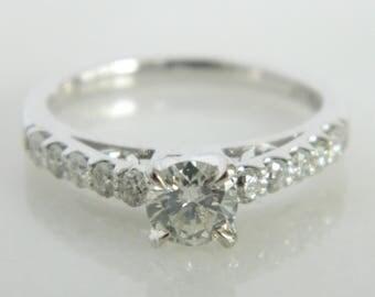 Wonderful Diamond 14K White Gold Engagement Ring size 6.75