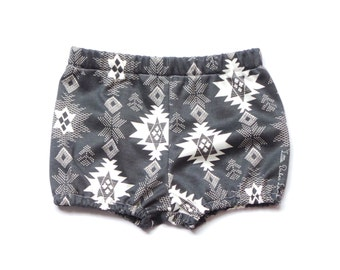 Jersey Knit Aztec Shorts / Bloomers / Diaper Cover