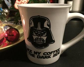 Star wars 16 ounce funny dark side coffee mug, vader