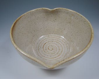 Heart Bowl ~ Serving Bowl ~ Pottery Heart Bowl ~ Heart Shaped Bowl