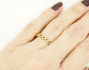 Wedding band-Yellow Gold Diamond Ring-Yellow Gold Ring-Eternity diamond ring-Eternity wedding band-Black diamond ring-Eternity ring-For here