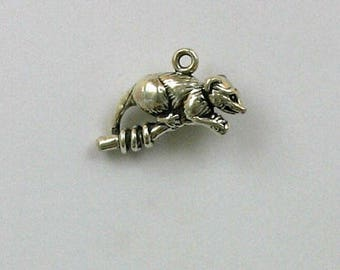 Sterling Silver 3-D Opossum Charm