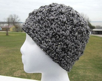 Easy Pebbled Beanie Hat Crochet Pattern - Winter Beanie Hat for Teen And Women -Make In A Day  #Hat0003