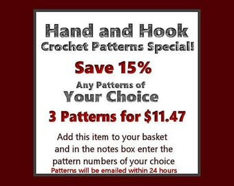 Buy Three Crochet Patterns And Save - Your Choice Of Any Three Crochet Patterns