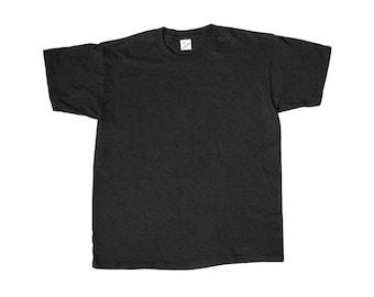 Vintage Duke Blank Black T-Shirt Made in USA