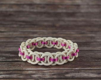 Helmet-chain Rubber Bracelet, Chainmaille